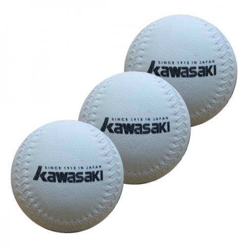Kawasaki 軟式安全棒球 3入/包