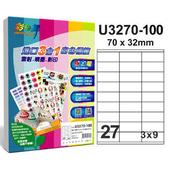 《彩之舞》27格  進口3合1白色標籤U3270-100*2包