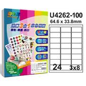 《彩之舞》24格  進口3合1白色標籤U4262-100*2包