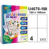 《彩之舞》4格  進口3合1白色標籤U4676-100*2包