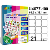 《彩之舞》21格  進口3合1白色標籤U4677-100*2包