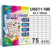 《彩之舞》75格  進口3合1白色標籤U6611-100*2包