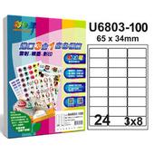 《彩之舞》24格  進口3合1白色標籤U6803-100*2包