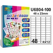 《彩之舞》48格  進口3合1白色標籤U6804-100*2包