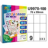 《彩之舞》9格 進口3合1白色標籤U9970-100*2包