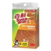 《3M》百利抗菌茶杯 細緻餐具用菜瓜布(5片裝)