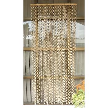 《DecoBox》日式鄉村風原色竹圈簾(90*200)
