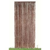 《DecoBox》日式鄉村風咖啡色竹圈簾(90*200)