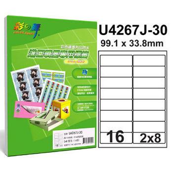 《彩之舞》16格 進口噴墨專用標籤U4267J-30*3包