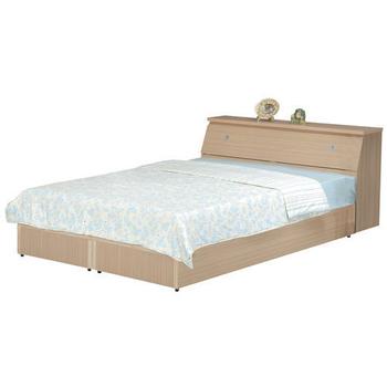 時尚屋 Terry5尺同色系床箱型後封邊雙人床WG-5setb2/木心板-不含床墊(白橡色)