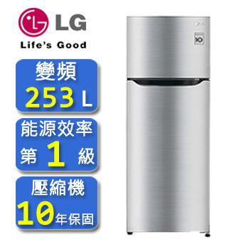 LG Smart 變頻上下門冰箱精緻銀 / 253公升 (GN-L305SV )