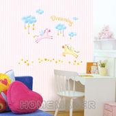 《Decoin》可愛飛馬-創意造型壁貼(HS-SWST70)(32cmX60cm)