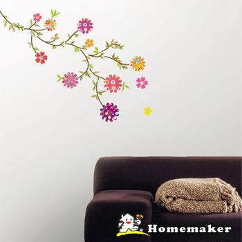 《FIXPIX》彩色圓花-創意造型壁貼(HPS-58072)(50cmX70cm)