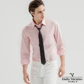 《Emilio Valentino 范倫提諾》都會經典長袖襯衫-粉紅(XL)
