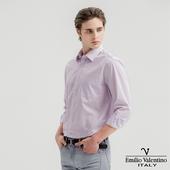 《Emilio Valentino 范倫提諾》都會經典長袖襯衫-淺紫(XL)