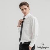 《Emilio Valentino 范倫提諾》都會經典長袖襯衫-白(M)