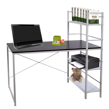 大型雙向層架式電腦桌(120x60x75-120公分)
