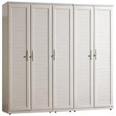 《時尚屋》珊朵拉6.7尺百葉組合衣櫥061-1