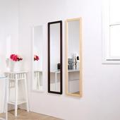 溫妮實木加長壁鏡-三色可選-高125公分(原木色)