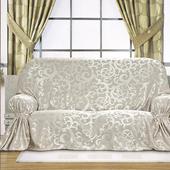 《布安於室》蔓澤 DIY 2人座沙發罩(銀灰)