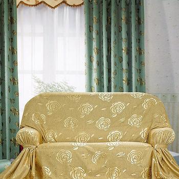 《布安於室》富貴花 DIY 2人座沙發罩(暗金)