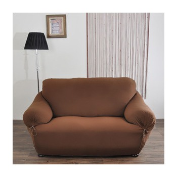 《歐卓拉》典雅涼感彈性沙發便利套-咖2人座