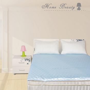 Home Beauty 日系風3M防潑水機能保潔墊雙人-天空藍(天空藍)