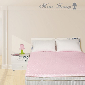 Home Beauty 日系風3M防潑水機能保潔墊雙人-漾粉紅(漾粉紅)