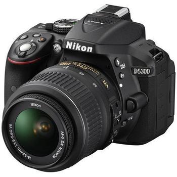 Nikon D5300 18-55mm標準鏡組(公司貨)★SD64G+副電+相機包+52MM UV鏡(黑色)