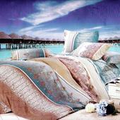 《Luo mandi》類天絲  雙人三件式床包組(J組 解放心靈)
