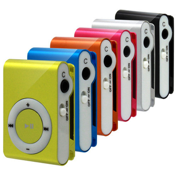 第六代夾子機 microSD插卡式 MP3隨身聽(1入-藍)