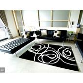 現代視覺系進口地毯-130x200(黑底)