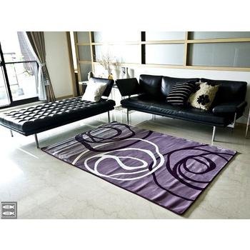 現代視覺系進口地毯-130x200(紫底)