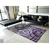 現代視覺系進口地毯-160x230(紫底)