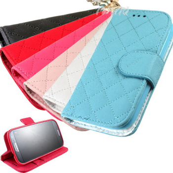 KooPin HTC Desire 700 手提格格系列 側掀可立式皮套(櫻花粉)