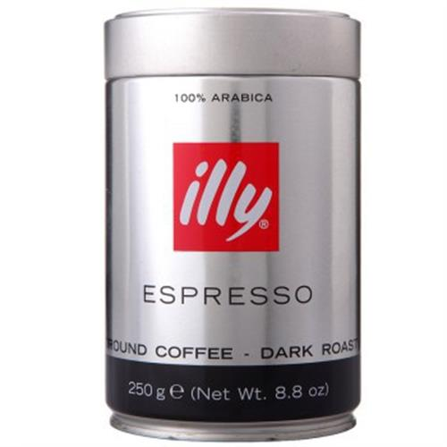 義大利Illy 深度烘焙咖啡粉(250g/罐)