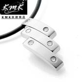 《KMK鈦鍺精品》步步高升(晶鑽墜鍊)