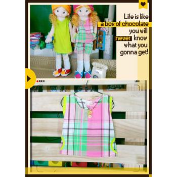 太樂童裝 清新自然 韓版雙口袋可愛美童上衣(5)