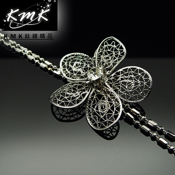 KMK鈦鍺精品 《簍空雕花-優雅別緻》(多功能腰鍊、項鍊、配飾)