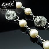 ~KMK鈦鍺 ~~古典珍珠~圓形~ 多 腰鍊、項鍊、配飾