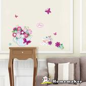 《LK》法式下午茶五彩蔥半手工壁飾貼(LK-HPA2215)(42cmX30cm)