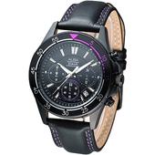 《ALBA》時尚系3眼計時腕錶-IP黑 AT3159X1