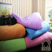 《輕鬆睡-EzTek》薄墊專用吸濕排汗布套6-8 雙人(淡紫色)