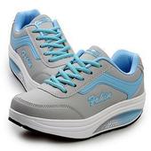 《Alice韓系館》【預購】舒適流線美身美腿健走鞋(藍36)