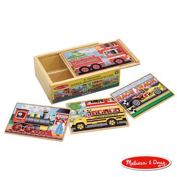 ★結帳現折★美國瑪莉莎 Melissa & Doug 盒中木製拼圖 - 交通工具