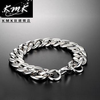 《KMK鈦鍺精品》響亮魚紋  純鈦-手鍊