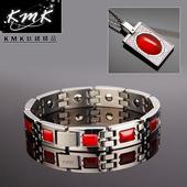 《KMK鈦鍺精品》玫瑰莊園  紅瑪瑙-套組