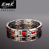 《KMK鈦鍺精品》玫瑰莊園  紅瑪瑙-手鍊