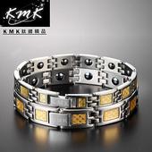 《KMK鈦鍺精品》經典黃金格紋  純鈦-對款