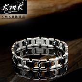 《KMK鈦鍺精品》品味(純鈦+磁鍺健康手鍊)
